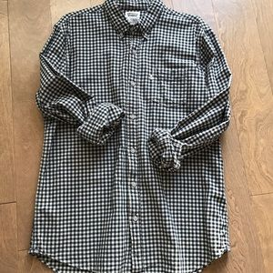Levi's navy gingham button down shirt